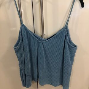 Kendall and Kylie blue crop top